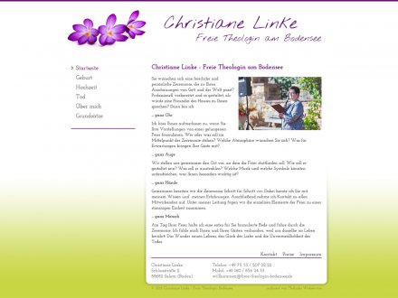 Webdesign von Christiane Linke