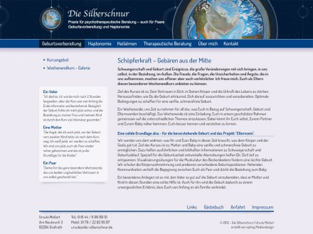 Webdesign von Die Silberschnur
