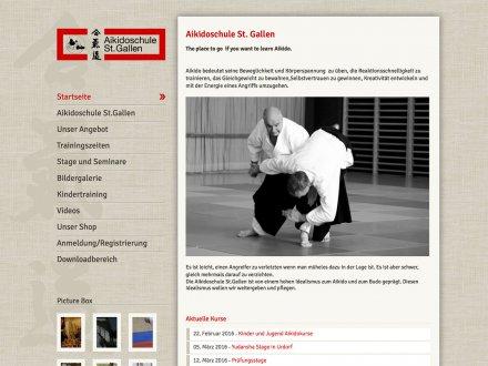 Webdesign von Aikidoschule St. Gallen