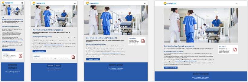 Webdesign von Transpasano