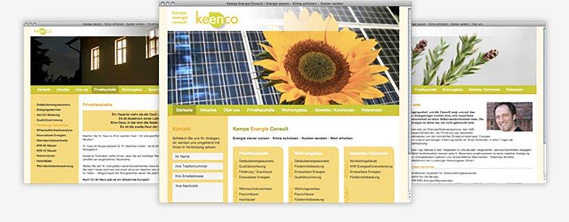 Webdesign von Keenco³