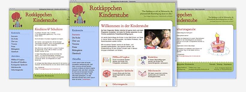 Webdesign von Rotkäppchen Kinderstube