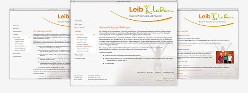 Webdesign von Leib & Leben