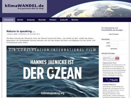 Webdesign von Klimawandel.de