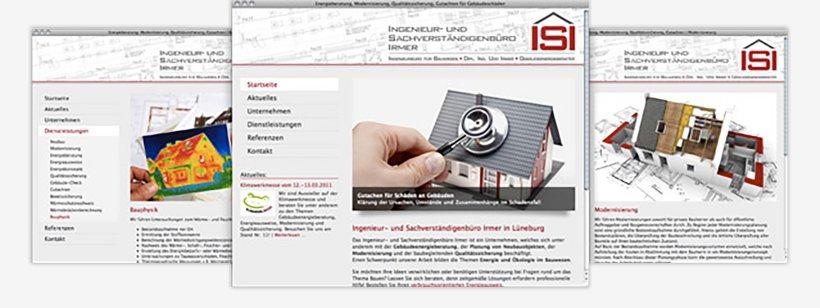 Webdesign von Ingenieurbüro Irmer