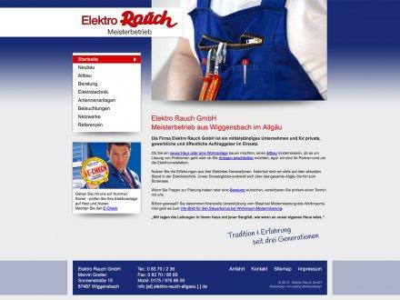 Webdesign von Elektro Rauch