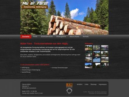 Webdesign von Müller Forst