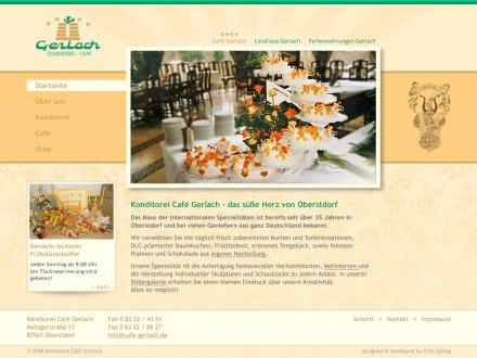 Webdesign von Conditorei Café Gerlach
