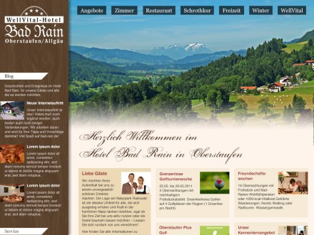 Webdesign von Hotel Bad Rain