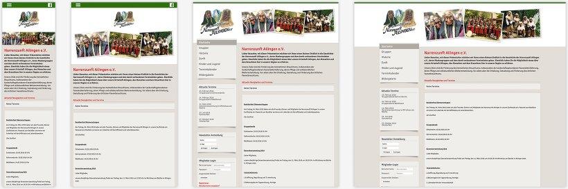 Webdesign von Narrenzunft Ailingen