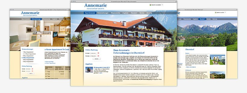 Webdesign von Haus Annemarie