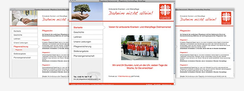 Webdesign von Pflegedienst Dietmannsried