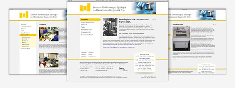 Webdesign von Pathologie Trier