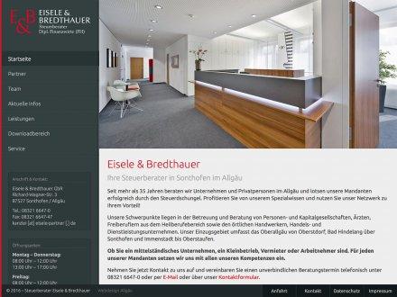 Webdesign von Eisele & Bredthauer