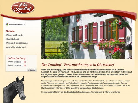 Webdesign von Der Landhof