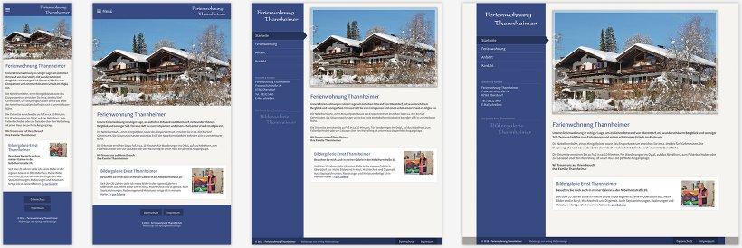 Webdesign von Ferienwohnung Thannheimer