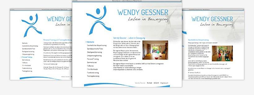 Webdesign von Wendy Gessner