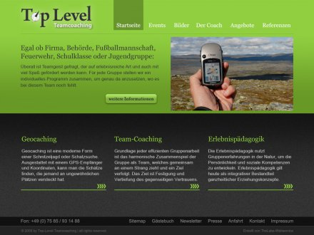 Webdesign von Top Level Teamcoaching