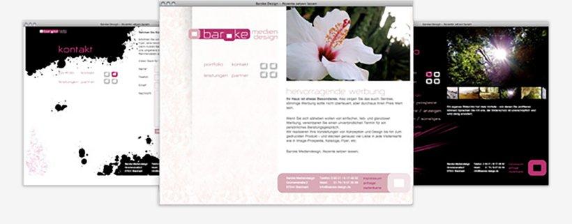 Webdesign von Baroke Design