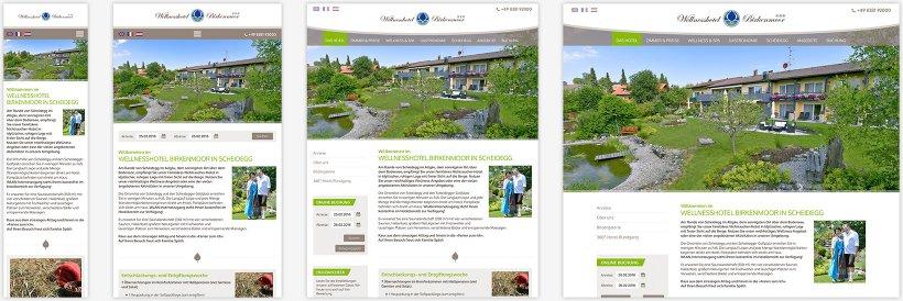 Webdesign von Hotel Birkenmoor