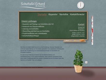 Webdesign von Schultafel Erhard