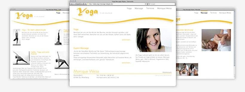 Webdesign von Yoga Massage Allgäu