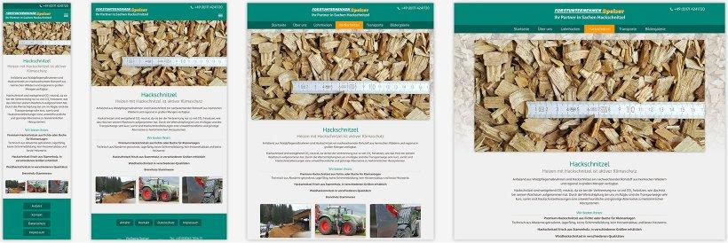 Webdesign von Forstunternehmen Speiser