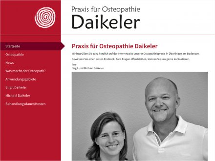 Webdesign von Praxis für Osteopathie Daikeler