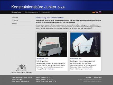 Webdesign von Konstruktionsbüro Junker