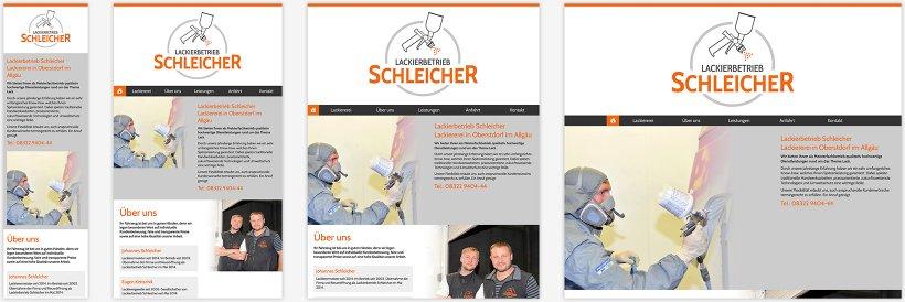 Webdesign von Lackierbetrieb Schleicher