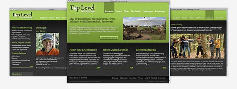 Webdesign von Top Level Teamcoaching
